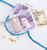 货币老镑绳索英镑 免版税库存照片