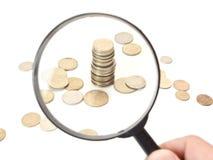 货币视图 库存图片