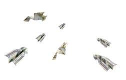 货币飞机 库存照片