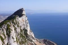 直布罗陀岩石远景 免版税库存照片