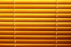 水平的百叶窗黄色 免版税库存图片