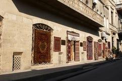 巴库地毯老界面城镇 库存图片