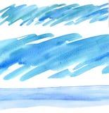 水彩设计要素 免版税库存照片