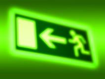 紧急出口符号背景 免版税库存图片