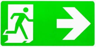 紧急出口符号 免版税库存图片