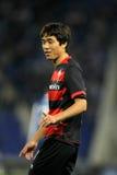 维戈塞尔塔足球俱乐部的Park Chu-young 免版税库存照片