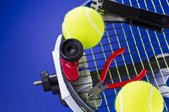 维护网球 库存图片