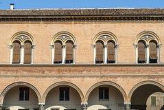 费拉拉-历史建筑 库存照片