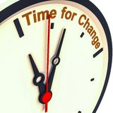 更改时间 免版税库存图片