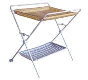 更改的尿布折叠式小桌 免版税库存图片
