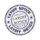 临时解雇通知单不加考虑表赞同的人 库存照片