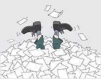 说明文件堆 库存照片
