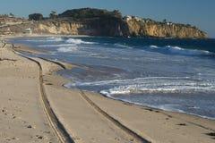 水晶小海湾海滩,加利福尼亚 免版税图库摄影