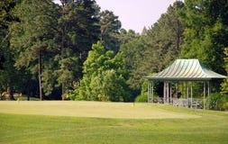 晴朗三天的高尔夫球 库存图片