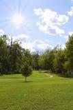 晴朗美丽的日的公园 免版税库存照片
