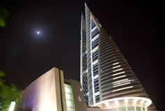 巴林中心晚上贸易世界 免版税库存照片
