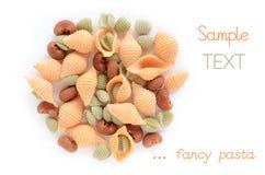 水果味道的意大利面食 免版税库存图片