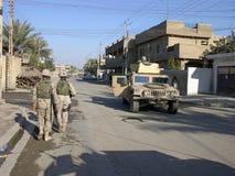 巴格达巡逻 免版税库存照片