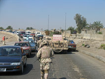 巴格达巡逻 库存图片