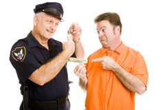 贿款官员警察拒绝 免版税库存照片