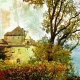 阴沉的城堡 免版税库存图片