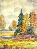 阴沉的秋天 库存图片