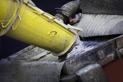 水泥搅拌车泵 免版税库存照片
