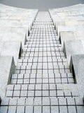 水泥断开的台阶 库存图片