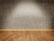 水泥楼层木条地板墙壁 免版税库存图片