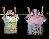 洗涤的货币 免版税库存图片