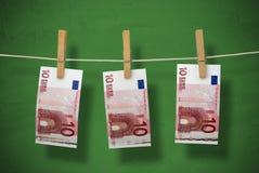 洗涤的货币 免版税图库摄影