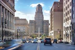 水牛城市政厅和其包围。 免版税库存图片