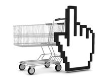 购物的抽象例证 免版税图库摄影