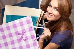 购物纵向 免版税库存图片