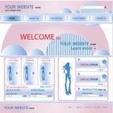 购物网站设计模板,向量 免版税库存图片