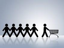 购物车在线命令界面购物万维网 库存照片