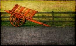 购物车被画的马 免版税图库摄影