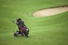 购物车高尔夫球 免版税图库摄影
