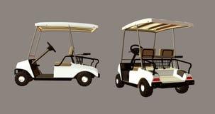购物车高尔夫球 免版税库存照片