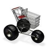 购物车购物速度涡轮 免版税图库摄影