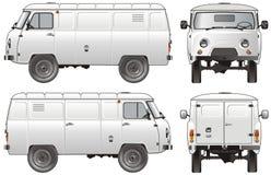货物送货卡车向量 免版税图库摄影