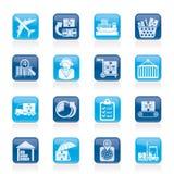 货物,后勤和发运图标 免版税图库摄影