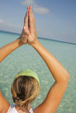 水瑜伽 库存照片