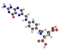 维生素B9分子 库存照片