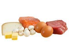维生素D的食物来源 免版税库存图片