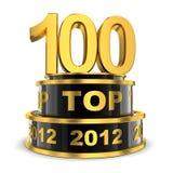 年的名列前茅100 免版税图库摄影