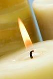 活的蜡烛 免版税库存图片
