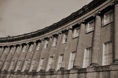 浴皇家新月形的英国 库存图片