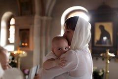 洗礼仪式 免版税库存图片
