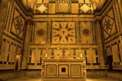洗礼池佛罗伦萨内部意大利 免版税库存照片